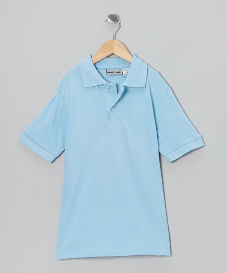 Light Blue Pique Polo - Boys