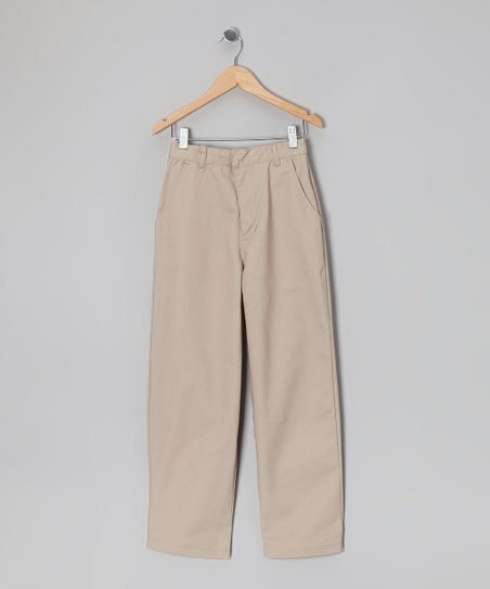 Khaki Straight-Leg Pants - Boys