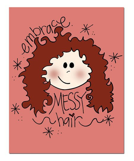 &#039;Messy Hair&#039; Print