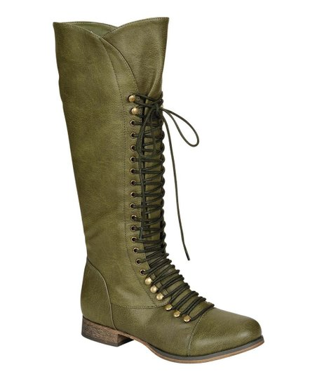 Military Green Georgia-35 Lace-Up Boot