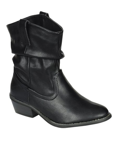 Black Dorado Scrunch Ankle Boot