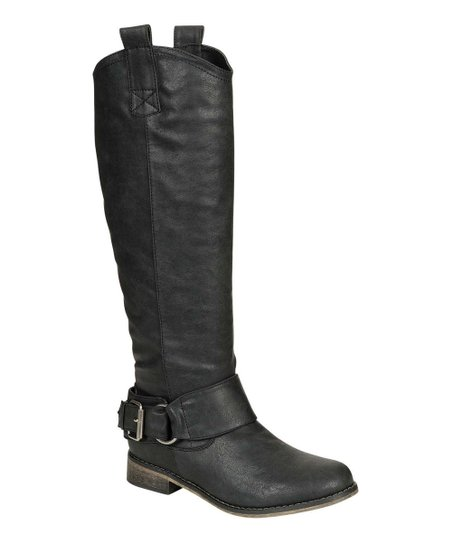 Black Rider Buckle Boot