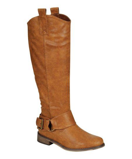 Tan Rider Buckle Boot