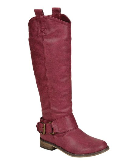 Berry Rider Buckle Boot