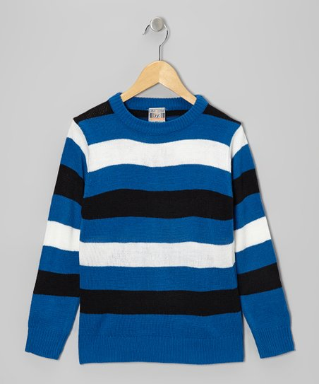 Royal Stripe Crewneck Sweater - Boys