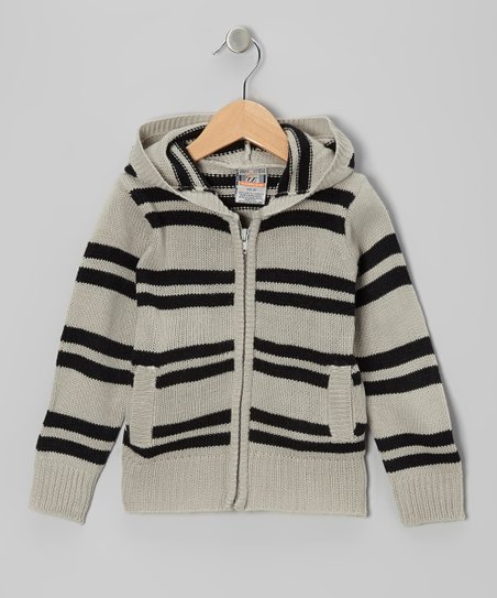 Gray Stripe Zip-Up Hoodie - Toddler & Boys