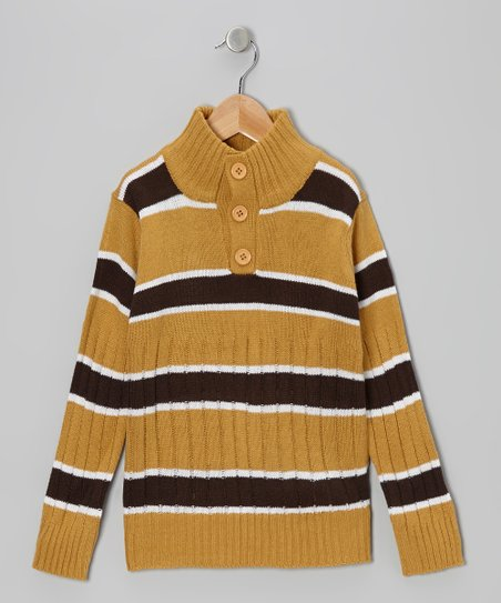 Brown Stripe Pullover - Toddler & Boys