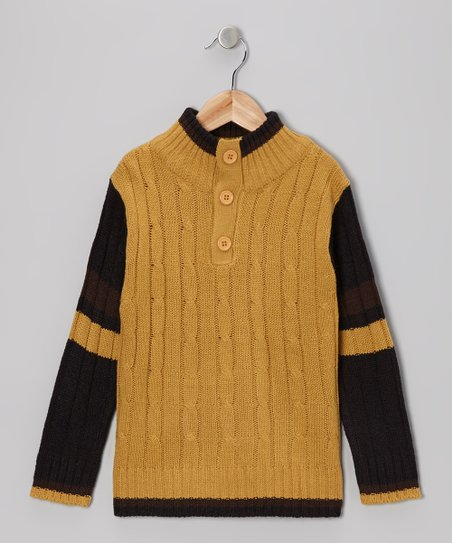 Brown Cable-Knit Pullover - Toddler & Boys