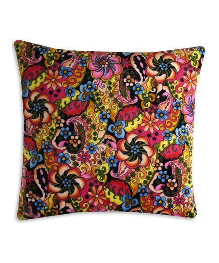 Chooty & Co. Black & Mango Majik Pillow