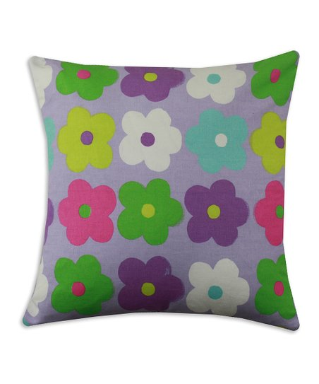 Chooty &amp; Co. Lavender &amp; Gray Happy Days Pillow