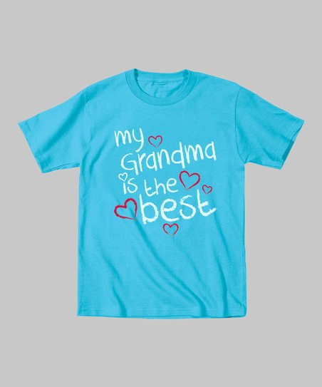 Electric Blue 'My Grandma Is the Best' Tee - Toddler & Girls