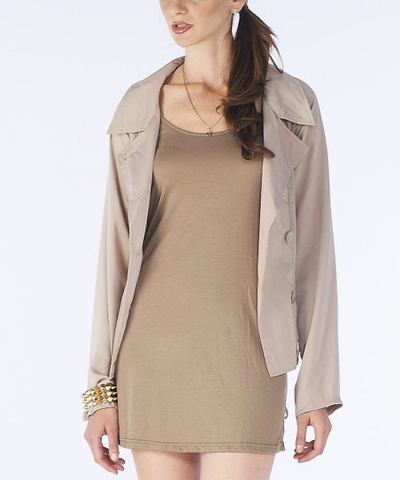 Taupe Shirttail Jacket