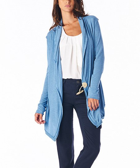 Blue Toggle Wrap Cardigan