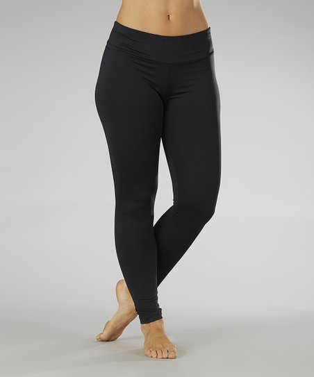 Black Ruched Back Leggings
