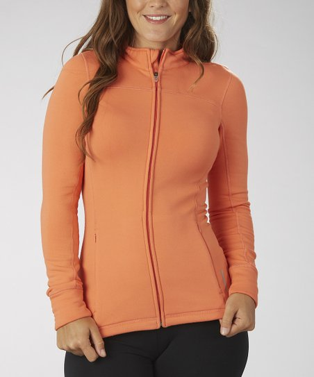 Sizzling Coral Fleece Track Jacket