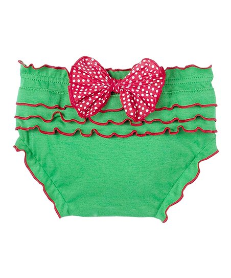 Green Ruffle Bow Bloomers