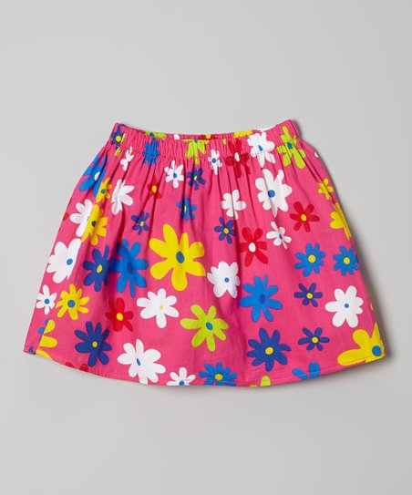 Pink Flower Skirt – Toddler & Girls