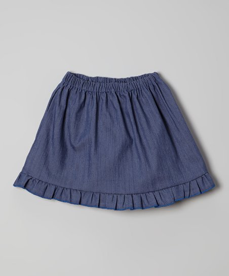 Blue Chambray Skirt - Toddler & Girls