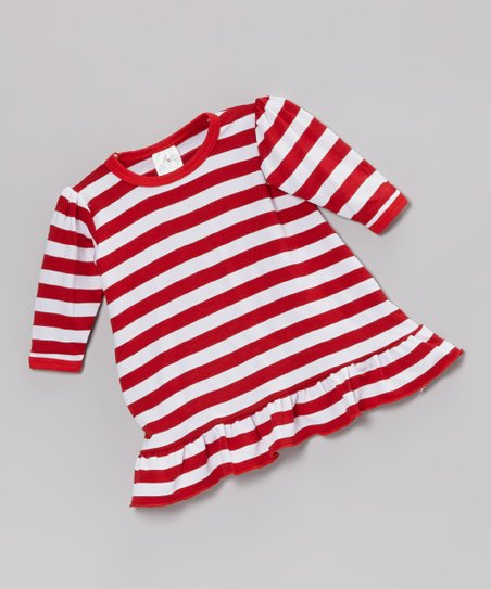 Red & White Stripe Doll Outfit