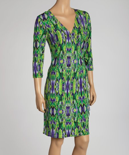Green & Purple Kaleidoscope Dress