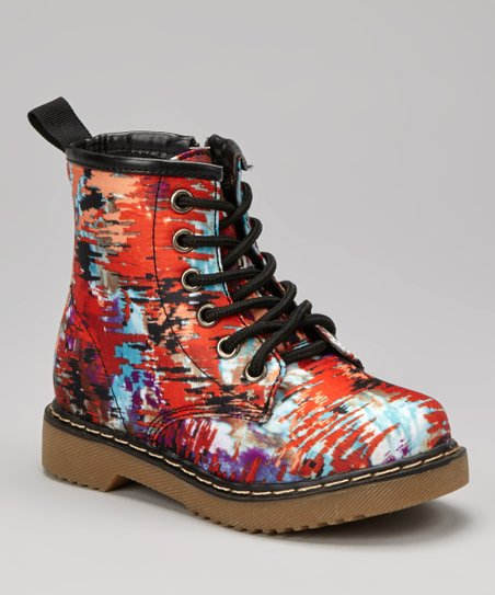 Red Graffiti Boot
