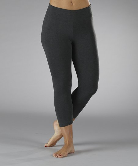 Heather Charcoal Tummy Control Shaper Capri Leggings