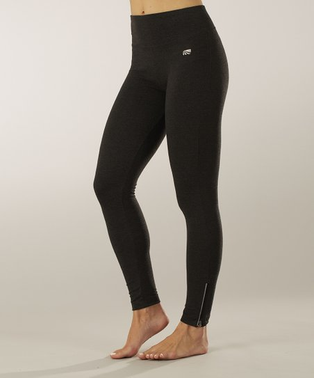 Heather Charcoal Tummy Control Shaper Leggings
