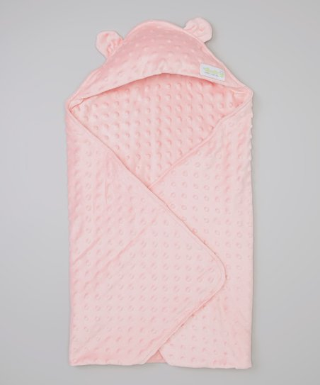 Pink Minky Cuddle Cape Blanket