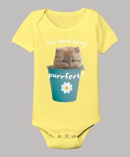 Banana 'It's Hard Being Purrfect!' Bodysuit - Infant