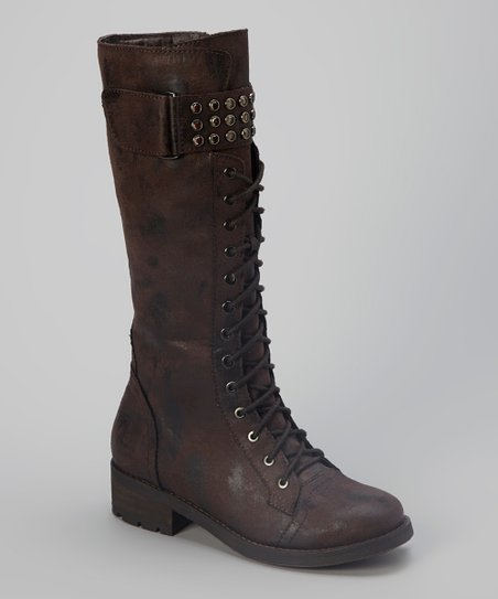 Brown Distressed Lilith Boot