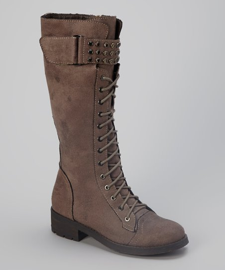 Taupe Distressed Lilith Boot