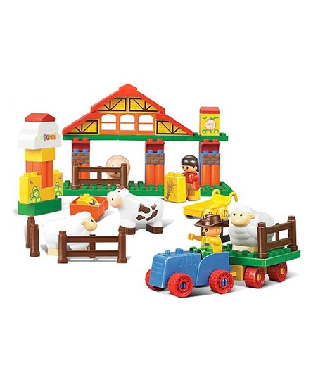 Big Blocks Happy Farm 55-Piece Blocks Set