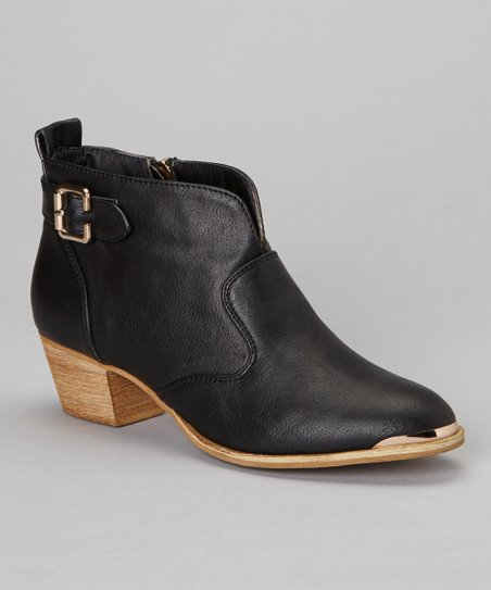Black Linda Ankle Boot