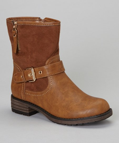 Brown Buckle Jayda Boot