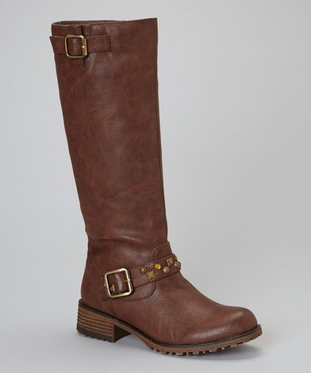 Brown Jayda Riding Boot