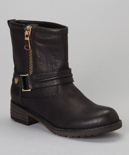 Black Zip-Up Jayda Boot