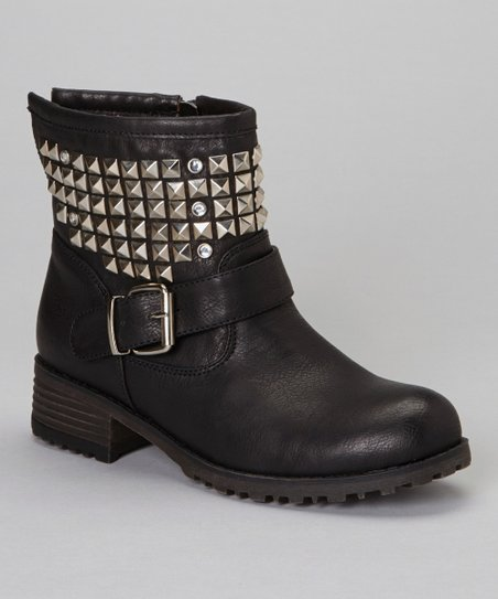 Black Studded Jayda Boot