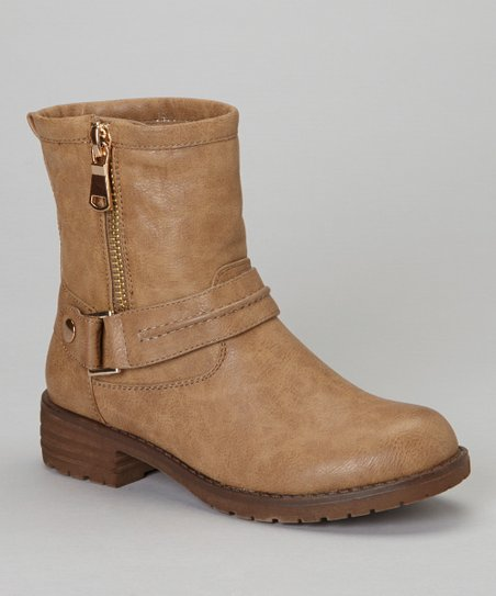 Khaki Zip-Up Jayda Boot