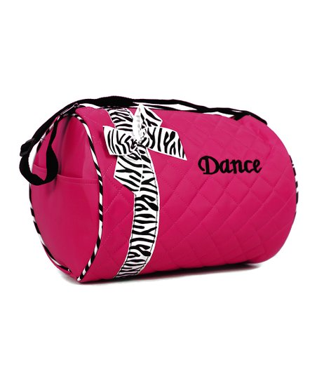 Hot Pink Zebra 'Dance' Duffel Bag