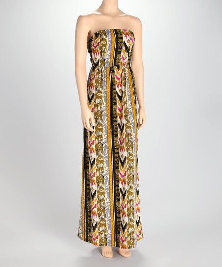 Mustard Tribal Maxi Dress