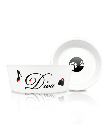 White 'Diva' 16-Oz. Pet Food Bowl
