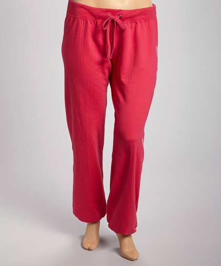 Red Apple 'Love' Fleece Pants - Plus