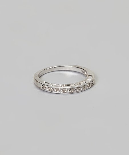 Diamond & Silver 'I Love You' Ring