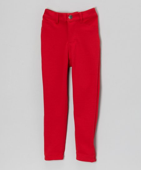 Red Skinny Pants - Toddler & Girls
