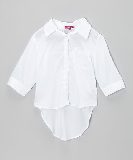 Snow White Hi-Low Button-Up - Toddler & Girls