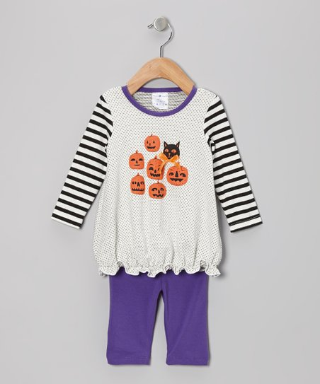 White Pumpkin Party Tunic & Leggings - Infant, Toddler & Girls