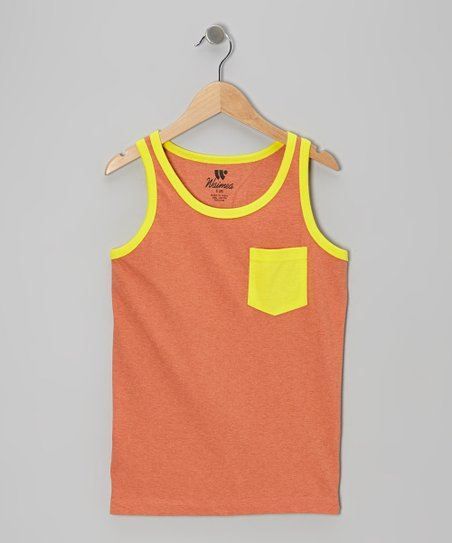Orange & Yellow Contrast Pocket Tank
