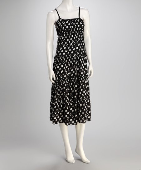 jon & anna Black & White Circle Tiered Dress