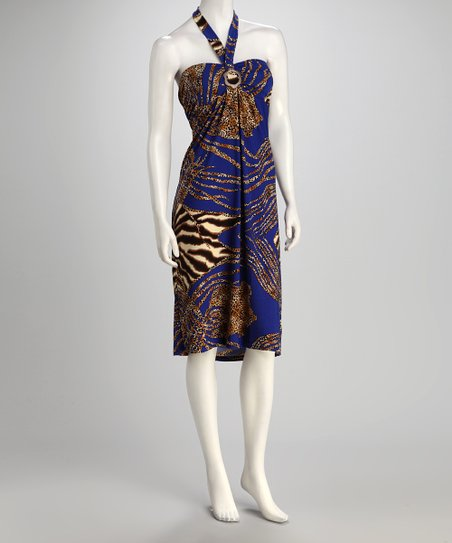 jon & anna Blue Safari Bandeau Dress