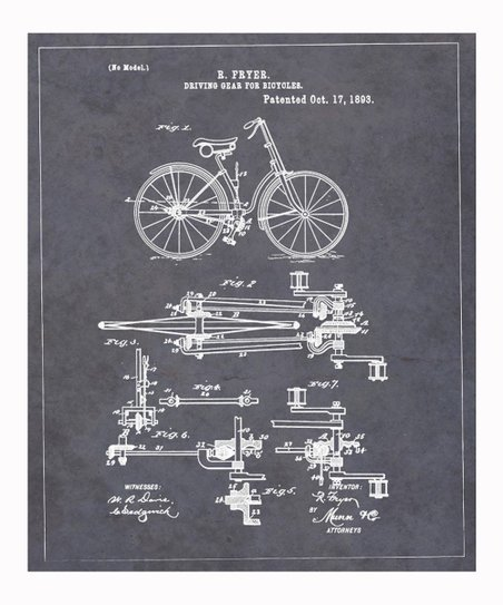 Driving Gear for Bicycles 1893 Art Print